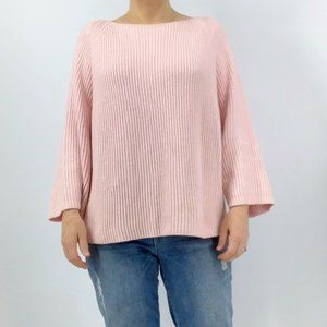 Lou and Grey pink oversized ribbed sweater